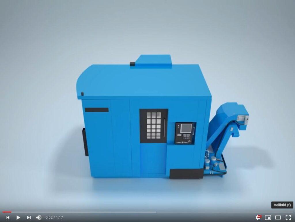 Nabtesco Werkzeugmaschine Video auf Youtube